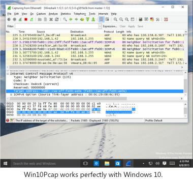 Win10Pcap - WinPcap for Windows 10